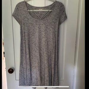 Hollister Scoop Neck V-Accent Dress